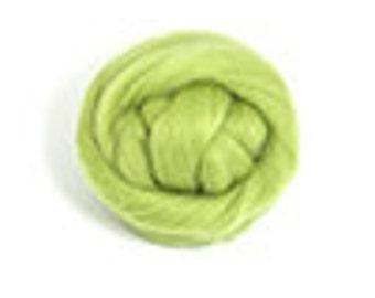 Corriedale Wool Roving /Combed Top/Braid in Sage  - 2 oz