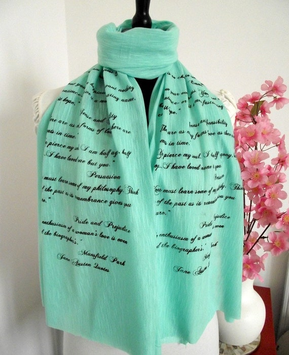 Jane Austen Book Scarf