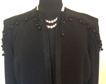 Vintage Black Noir Couture Coat - L