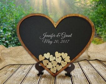 Heart drop guest book, guest book alternative, wedding guest book drop box, wedding guest book alternative