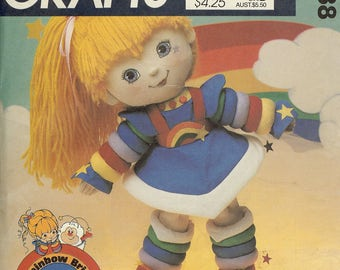 McCall's 9238 Vintage Rainbow Brite Doll Sewing Pattern NEW