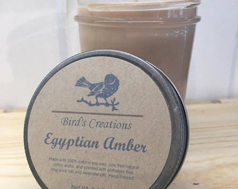 Egyptian Amber Scented Natural Soy Candle
