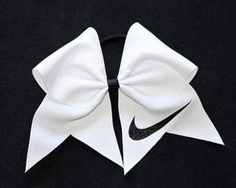 Reg. Nike Swoosh Cheer Bows Grosgrain tick tock style