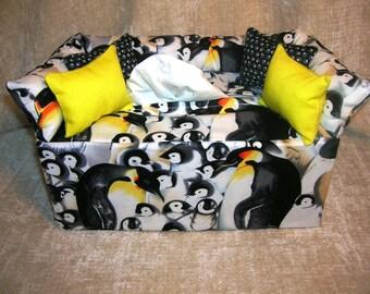 Animal Prints Tissue Box Covers-  Penguins, Pandas, Sharks & Dolphins, Owls