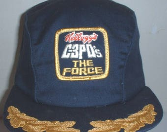 "Kellog's breakfast cereal ""C-3P0's The Force"" ballcap size Large circa 1980s"