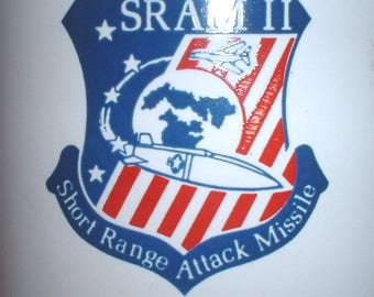 USAF US Air Force Boeing sram II ceramic coffee mug