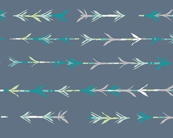 BAMBOO SHOOTS/ARROWS cotton fabric // Quilting Cotton; [[by the half yard]]