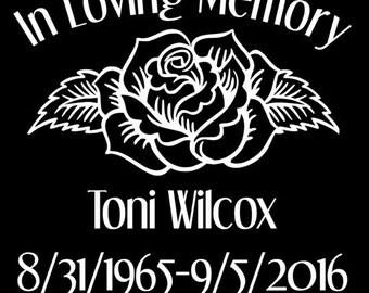 In Memory of Toni Wilcox - Rose
