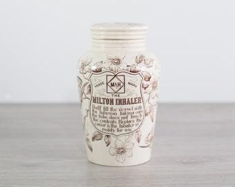 Antique 1800's Milton Inhaler by M&H Trademark
