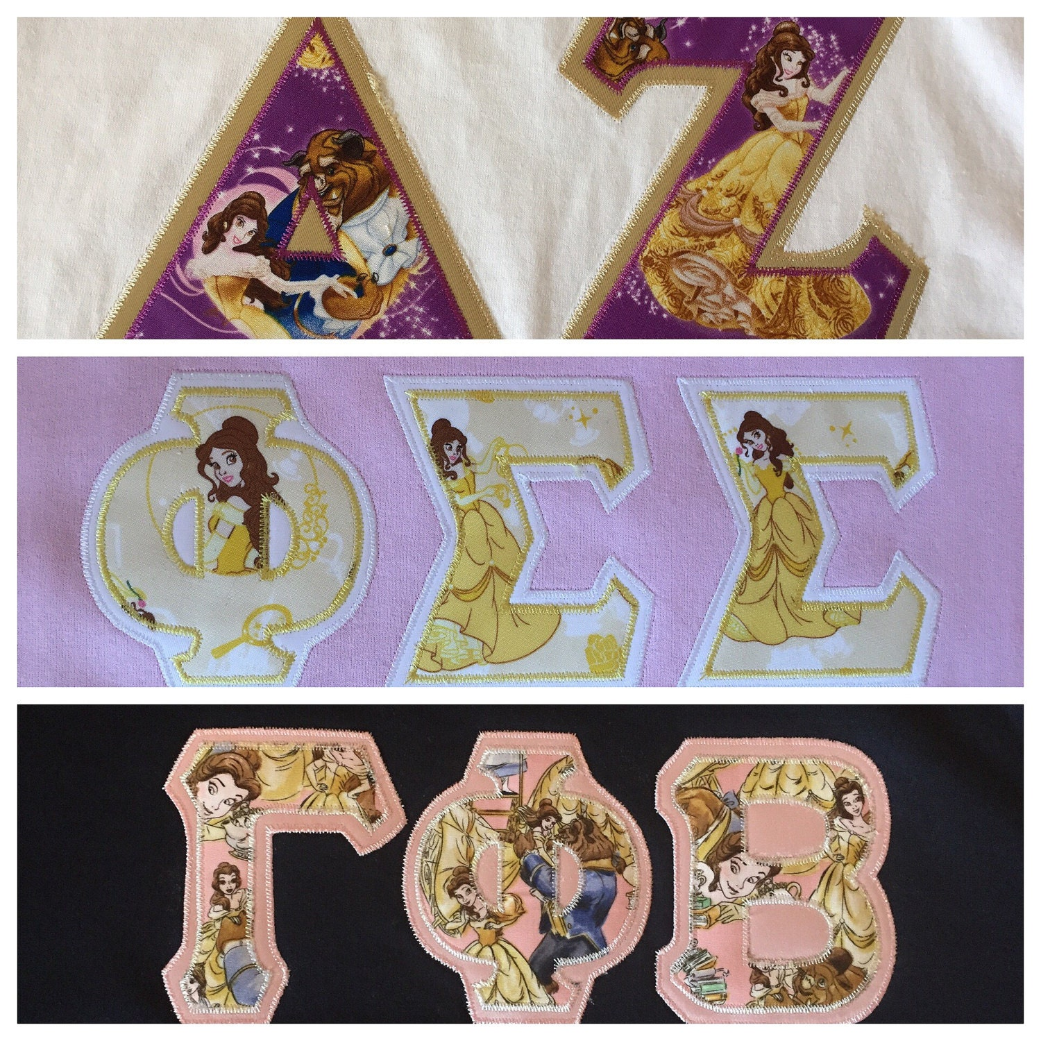 Custom belle greek letter t shirt longsleeve t shirt or for Custom greek letter t shirts