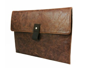 "12.9"" Leather iPad Pro Case - Rustic Brown (can be personalized)"