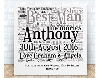 Best Man Ceramic  Plaque. Wedding Thank You Gifts. Personalised