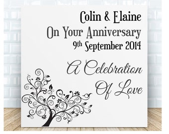 On Your Anniversary Ceramic Plaque.  Personalised