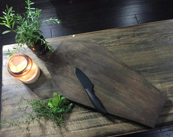 Oak butcher block coffin cutting board (Large)
