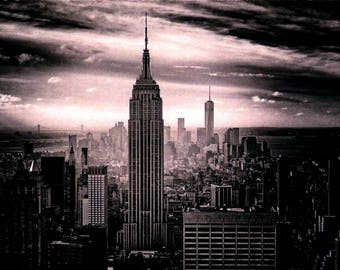 Empire State Building, Panoramic View of New York City, Greeting Card NCC691635