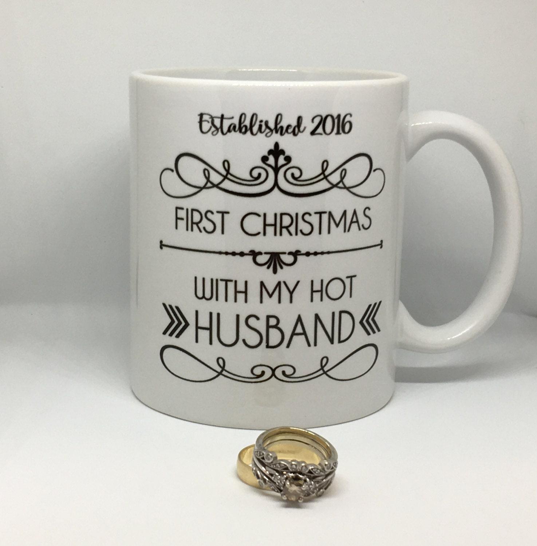 First Christmas Mug // hot wife // hot husband // First Christmas ...