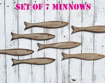 Wood Fish Wall Decor / Coastal Decor / Wooden Fish / Beach