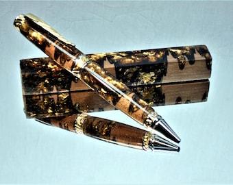 Glow in the Dark Gold MICA N Wood Pen Blanks