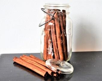 ATLAS BALL JAR with Cinnamon Sticks