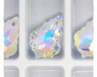 Swarovski Crystal Beads, 16,0x11,0 mm Swarovski Pendant, 6090 5 pcs crysta AB Swarovski Baroque  pendant, Wholesale Swarovski Crystal