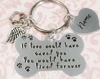 Pet Memorial Keychain - Dog Memorial - Sympathy Jewelry - Keychain - Pet Memorial Gift - Pet Memorial Jewelry - Loss of Pet -