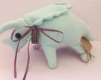 Baby Pentaceratops Plush, Dinosaur Plush, Handmade Pentaceratops stuffed animal.