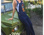 Salopette overall vintage jean brut customise