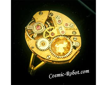 Handcrafted Steampunk Ring, handmade steampunk jewellery, steampunk jewelry, weddings, christmas gifts