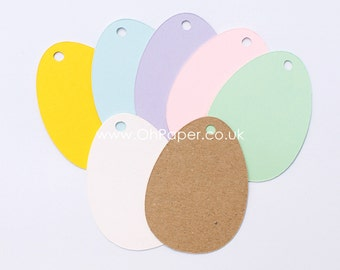 EASTER EGG gift tags / eggs favour tags / spring  tags / Colour happy easter tags / paper labels / Easter labels / kraft tags / egg favour