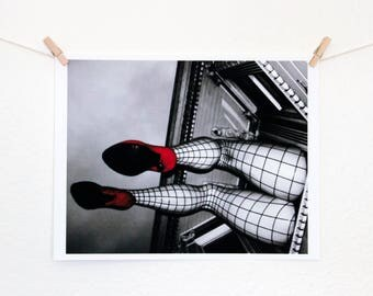 Pinup Legs Photography Print, Wall Art, Haight Ashbury, San Francisco