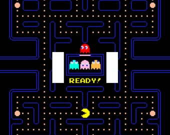 Pac-Man Double Light Switch Plate Cover Arcade