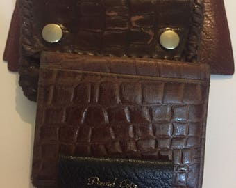 Vintage Lot Of Leather Wallets And Coin Purses