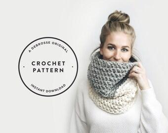 CROCHET PATTERN ⨯ Crochet Infinity Cowl Scarf  ⨯ The Delmas 2.0