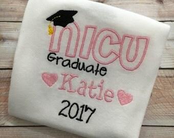 NICU Graduate Bodysuit- Newborn, baby girl, baby boy