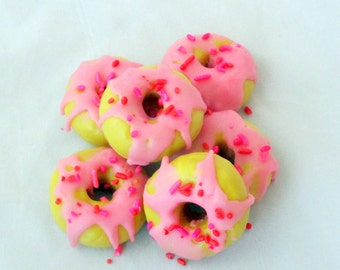 Strawberry Shortcake doughnuts, Donut tarts, wax tarts, bakery tarts, tart melts, soy tarts, bakery candle, novelty candle, donut tarts