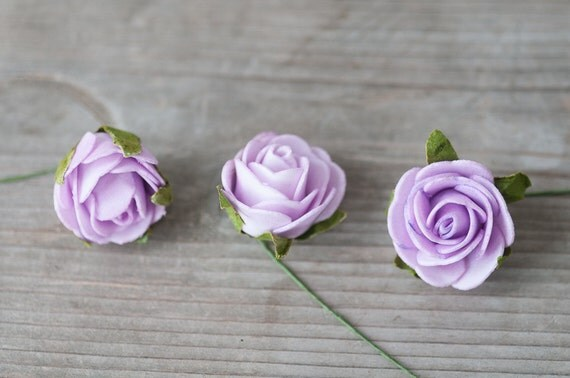 Lavender fake foam roses artificial craft roses small foam for Small flowers for crafts