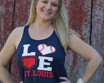 Love St. Louis Cardinals Tank