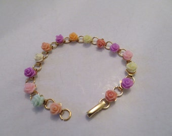 Pretty Spring Rose Bracelet