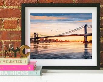 New York City Art, New York City, New York City Print, New York, Manhattan Bridge, New York Print, New York Poster, New York City Wall Art