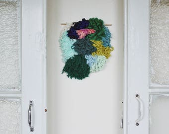 Emerald // Shag Wool Wall Hanging