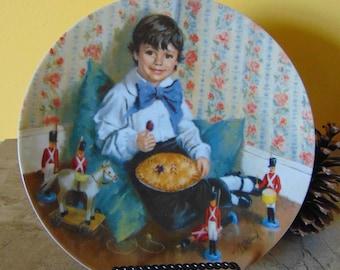 Little Jack Horner Plate 1982 John McClelland  Limited Edition