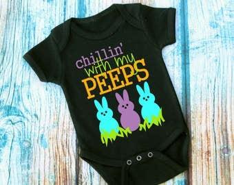 Easter Peeps- Chillin' Bodysuit