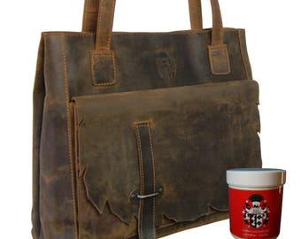 Women's shoulder bag ELLEN brown Wild-west-leather