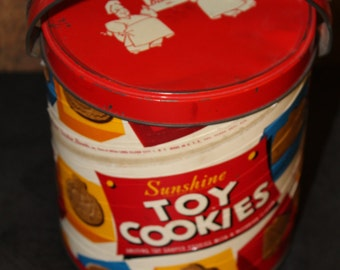 vintage 1960's Sunshine toy cookie canister