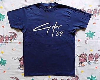 Vintage 80's Gary Hart '84 Presidential Campaign T shirt, size Medium super soft democrat Reagan Election