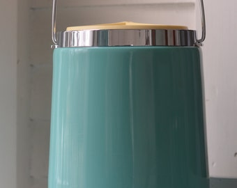 Cool TURQUOISE Vintage Ice Bucket ~ Thermos