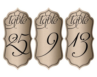"Wine Bottle Table Numbers - 5"" x 2.5"""