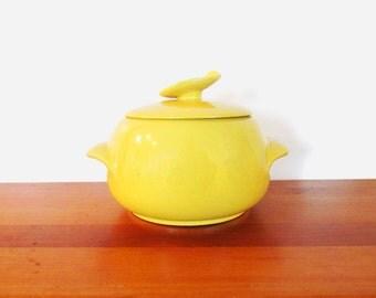 Frankoma Pottery Autumn Yellow 4V 2 Quart Bean Pot