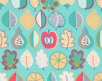 Turquoise fruit fabric - Summer Fruit fabric - Dear Stella cotton