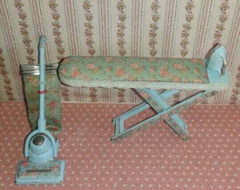 Dollhouse Ironing Board Vacuums + Esc Shabby 1:12